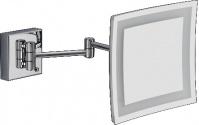 Подробнее о Зеркало  Bagno&Associati  SP 814.51 косметическое h22 см увеличительное (3X настенное с LED подсветкой хром