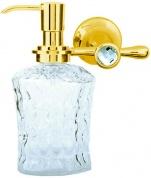 Подробнее о Дозатор для мыла Boheme Chiaro  10515 настенный золото / Swarovski /хрусталь