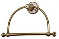 Подробнее о Полотенцедержатель Boheme Provanse  10805 кольцо  бронза / керамика с декором