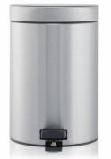 Подробнее о Ведро мусорное Brabantia  348945 с педалью (3 литра Matt Steel (сталь матовая
