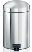 Подробнее о Ведро мусорное Brabantia Retro Bin  361180 с педалью  (3 литра  Brilliant Steel (сталь полированная