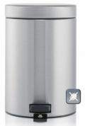 Подробнее о Ведро мусорное Brabantia  369520 с педалью (3 литра Matt Steel Fingerprint Proof (сталь матовая с защитой от отпечатков пальцев