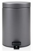 Подробнее о Ведро мусорное Brabantia  477362 с педалью (3 литра Platinum (платина