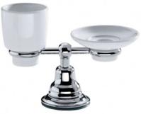 Подробнее о Cтакан и мыльница Carbonari Celeste  PACE настольные хром / керамика белая