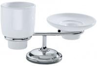 Подробнее о Cтакан и мыльница Carbonari Teresa  PATE CR настольные хром / керамика белая