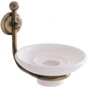 Подробнее о Мыльница Carbonari Teresa Anticata  PSTE ANT BR подвесная античная бронза / керамика белая