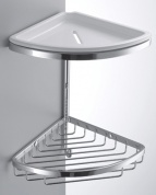 Подробнее о Полка решетка Colombo Angolari  B9601.000 двойная 18 х h30 cм угловая хром