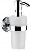 Подробнее о Дозатор для мыла Emco Polo  0721 001 02 настенный хром /пластик белый