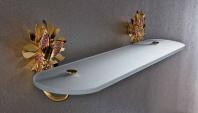 Подробнее о Полка стеклянная Etruska Papillon  4763/53/PERLA длина 60 см хром/стекло матовое