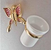 Подробнее о Стакан Etruska Icaro  4801/55/PERLA/CER подвесной золото/белый/керамика