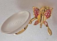 Подробнее о Мыльница Etruska Icaro  4802/55/PERLA/CER подвесная золото/белый/керамика