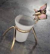 Подробнее о Стакан Etruska Icaro  4806/55/PERLA/CER настольный золото/белый/керамика