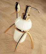 Подробнее о Дозатор мыла Etruska Retro  8557/D/55/CER настольный золото/керамика