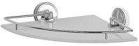 Подробнее о Полка FBS Luxia  LUX 012 стеклянная угловая 274 х h48 мм хром /cтекло матированное