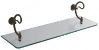 Подробнее о Полочка Globo Paestum  PA047 стеклянная на держателе 60 см металл ковка / стекло