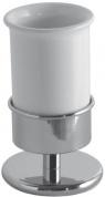 Подробнее о Стакан Globo Paestum  PABC41 настольный хром / керамика белая