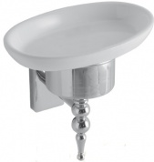 Подробнее о Мыльница Globo Paestum  PASC39 настенная хром / керамика белая
