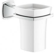 Подробнее о Стакан Grohe Grandera  40626000 подвесной хром / керамика белая