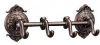 Подробнее о Крючки  Hayta Gabriel  13902-4/VBR на планке (4 шт Antic Brass (состаренная латунь