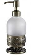 Подробнее о Дозатор мыла Hayta Gabriel  13916/BRONZE настольный бронза /стекло