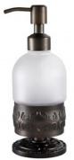 Подробнее о Дозатор мыла Hayta Gabriel  13916/VBR настольный Antic Brass (состаренная латунь/стекло
