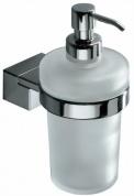 Подробнее о Дозатор для мыла Inda Logic  A 33120 CR настенный хром / стекло матовое