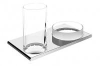 Подробнее о Cтаканчик с чашей Keuco Edition 400  11554 019000 подвесные хром / стекло