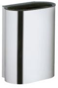 Подробнее о Ведро Keuco Plan 14988 010000 для мусора хром finish (эффект нержавеющей стали)/белый