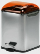 Подробнее о Ведро Koh-i-Noor Karta  5363 KA для мусора нержавеющая сталь / оранжевый