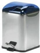 Подробнее о Ведро Koh-i-Noor Karta  5363 KB для мусора нержавеющая сталь / синий