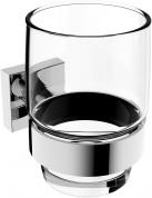 Подробнее о Стакан Linisi Cubo 810084-B подвесной хром / стекло