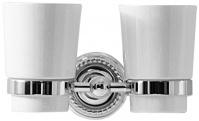 Подробнее о Стакан Magliezza Kollana  80506-CR настенный двойной хром/керамика