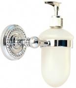 Подробнее о Дозатор для мыла Magliezza Kollana  80513-CR настенный хром/стекло