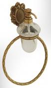Подробнее о Дозатор для мыла Migliore Cleopatra  ML.CLE-60.716.CR настенный с кольцом хром/стекло прозрачное с матовым узором