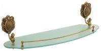 Подробнее о Полка Migliore Cleopatra  ML.CLE-60.720.CR стеклянная 55 см хром/стекло прозрачное