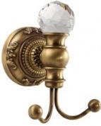 Подробнее о Крючок Migliore Cristalia  ML.CRS-60.209.DO двойной золото/Swarovski