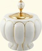 Подробнее о Контейнер  Migliore Olivia  ML.OLV-60.627.BO.DO настольный золото / керамика белая (декор золото