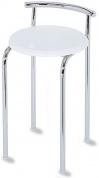 Подробнее о Стульчик Nicol Top-Set  1434400 для ванны душевой кабины хром / сиденье пластик белый