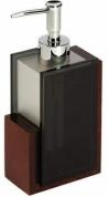 Подробнее о Дозатор Nicol Kent  2331920 настольный для жидкого мыла каучуковое дерево / стекло прозрачное / хром