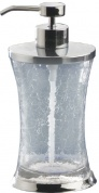 Подробнее о Дозатор Nicol Split  2381900 настольный для жидкого мыла стекло кракелюр / хром