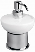 Подробнее о Дозатор жидкого мыла Schein Allom  222D-T настенный `сфера` хром /керамика белая