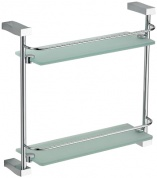 Подробнее о Полка стеклянная Schein Swing  3212 с ограничителем хром /стекло прозрачное
