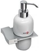 Подробнее о Дозатор жидкого мыла Schein Swing  322D настенный хром /керамика белая