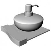 Подробнее о Дозатор жидкого мыла Schein Swing  322DB настенный `сфера` хром /керамика белая