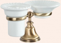 Подробнее о Стакан и мыльница  Tiffany TW Harmony  TWHA141 BR  настольные  бронза / керамика