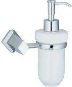 Подробнее о Дозатор для мыла Wasserkraft Aller K-1100  K-1199C подвесной хром/керамика белая