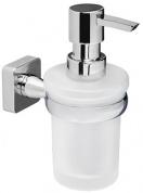 Подробнее о Дозатор для мыла Wasserkraft Lippe K-6500  K-6599 подвесной хром/стекло матовое