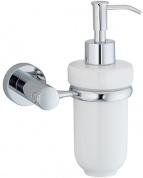 Подробнее о Дозатор для мыла Wasserkraft Donau K-9400  K-9499C подвесной хром/керамика белая