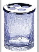 Подробнее о Стакан для зубных щеток Windisch Addition Craquele  83125CR настольный стекло `кракле` / хром