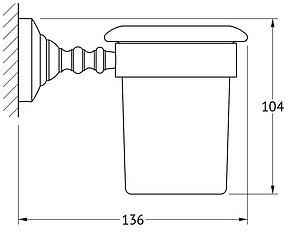 Стакан 3SC Stilmar STI 003 настенный хром / фарфор